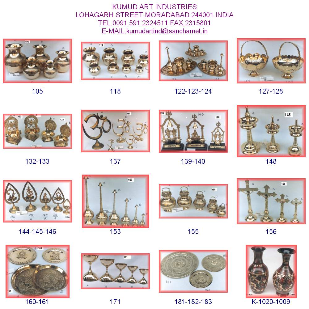 Brass Pooja Articles (assorted items)