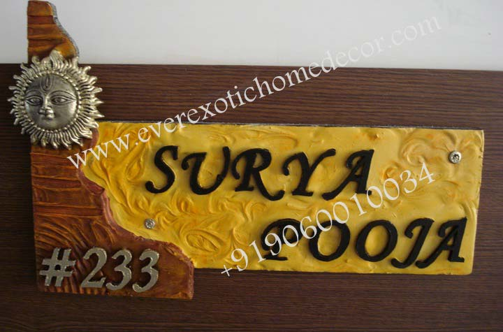 Designer name plates manufacturer in bangalore karnataka india by ever exotic id 1687452 for Name plate designs for home in chennai