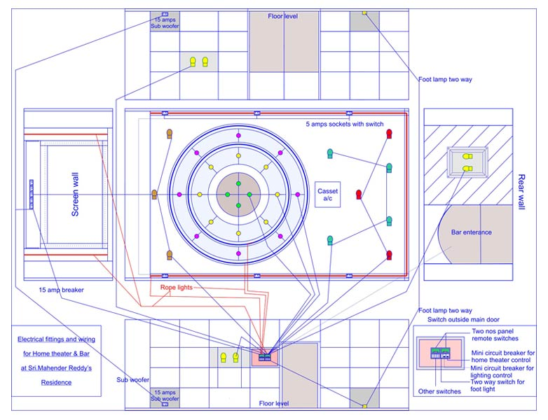 Home Theater Layout & Drawing