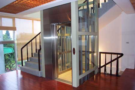Hydraulic home lift manufacturer in kolkata west bengal for Small lifts for houses