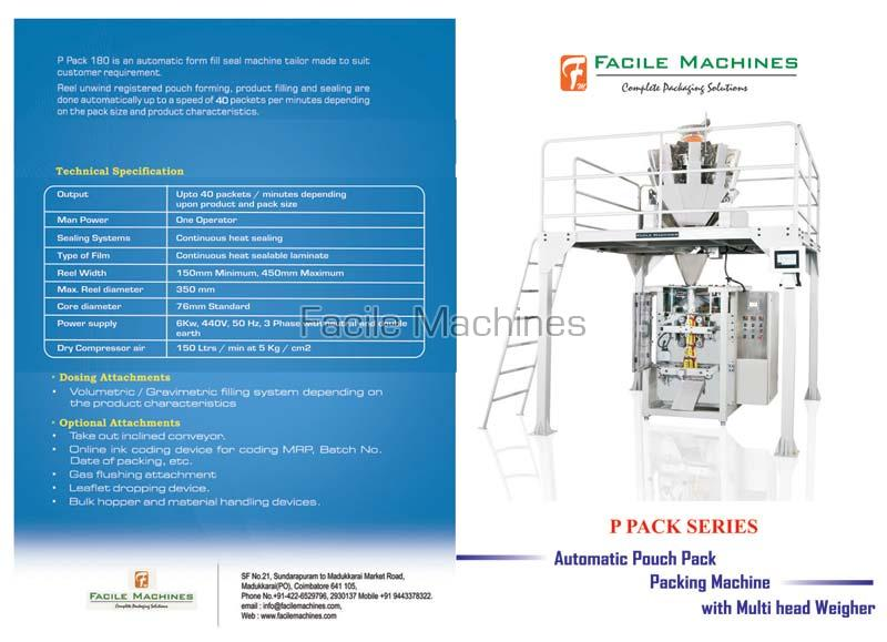 Multi Head Automatic Pouch Packing Machine