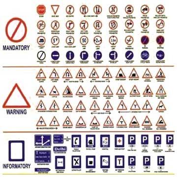 Indian Traffic Signal Symbols >> Buy Mandatory Traffic Signs from Reflective Fabrication Industries, Rohini | ID - 153721