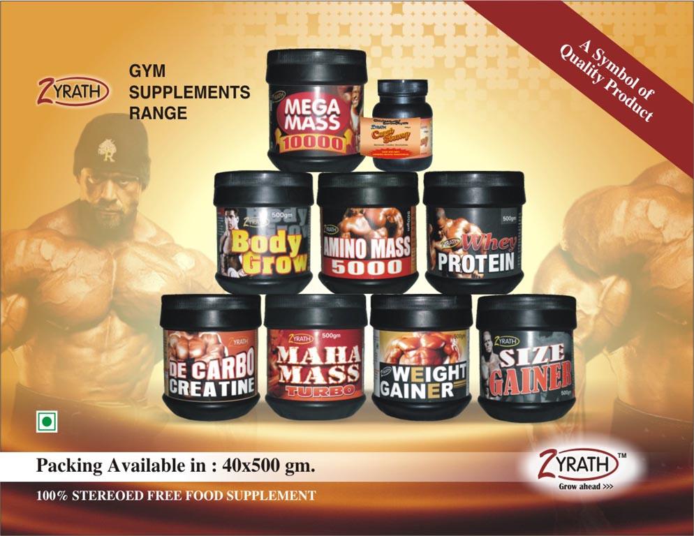 Zyrath Gym Supplement Range Manufacturer In Agra Uttar Pradesh India