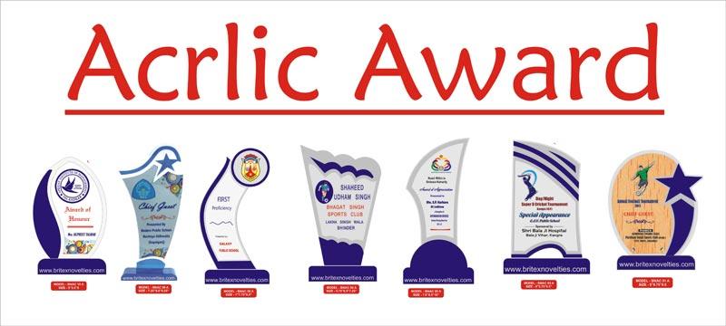 Acrylic Awards Manufacturer InAgra Uttar Pradesh India By
