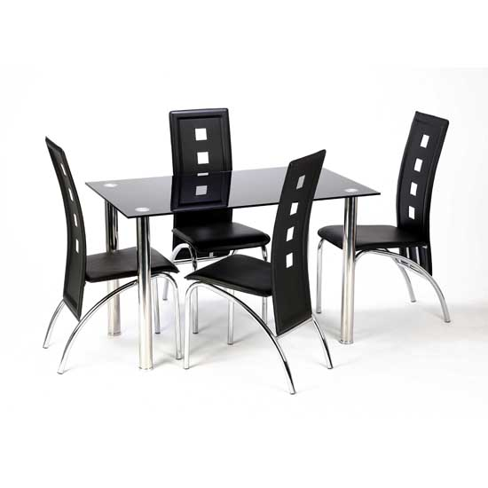 Cheap Black Dining Table And Chairs: 4 Seater Dining Table Wholesale Suppliers Faridabad, India