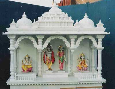 Marble stone temple manufacturer in rajasthan india by prabhat moorti art id 158148 for Marble temple designs for home