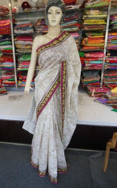efccdbac1af28c Designer Fancy Work Cotton Silk Saree Bollywood Superior Quality Fanc
