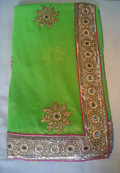 aae7f0127cd2cd Heavy Mirror Work Georgette Party Wear Saree Manufacturer in Jaipur ...
