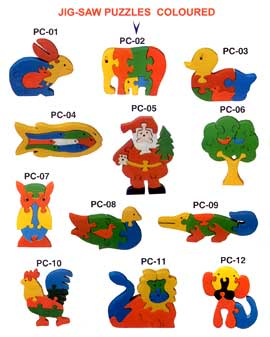 Wooden Jigsaw Puzzle Coloured
