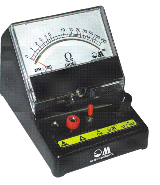 Measuring Resistance With Ohmmeter : Buy ohms meter from om meters india id