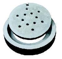 square concrete manhole cover