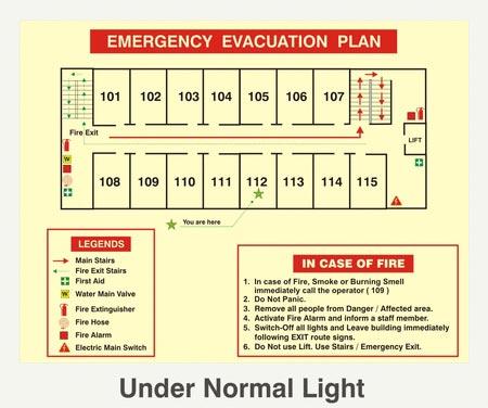 Glow In Dark Safety Signs
