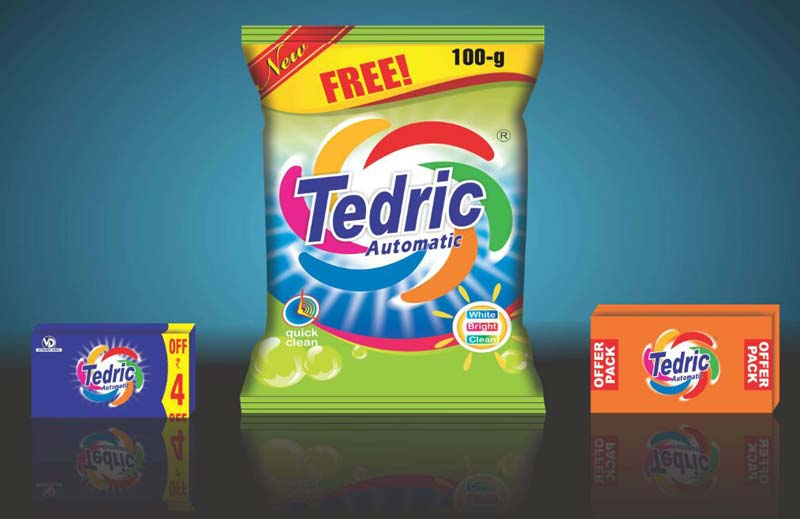 Tedric lemon fresh detergent powder and cake