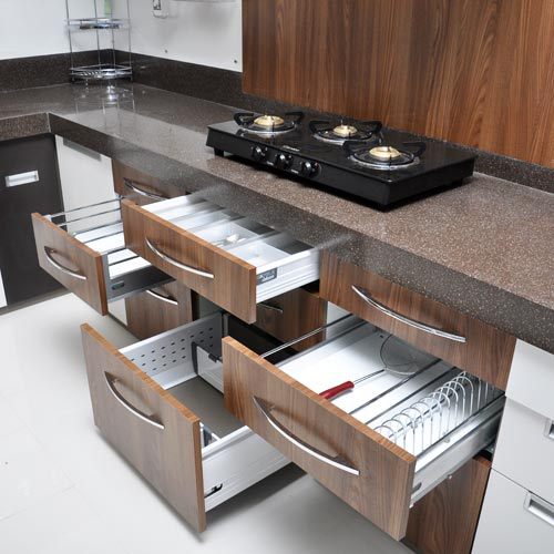 21 Sleek And Modern Metal Kitchen Designs: Modular Kitchen Fittings Manufacturer & Manufacturer From