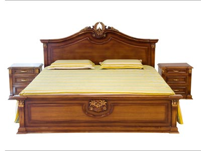Wooden double bed manufacturer indimapur nagaland india by for Double bed diwan