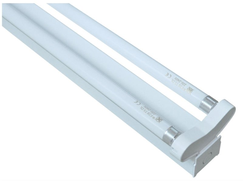 Dual Fluorescent Light Fixture - Light Fixtures
