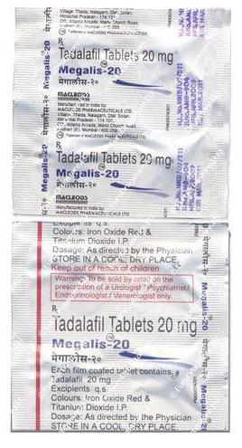 Megalis Tablets Manufacturer in New Delhi Delhi India by Indian Drop