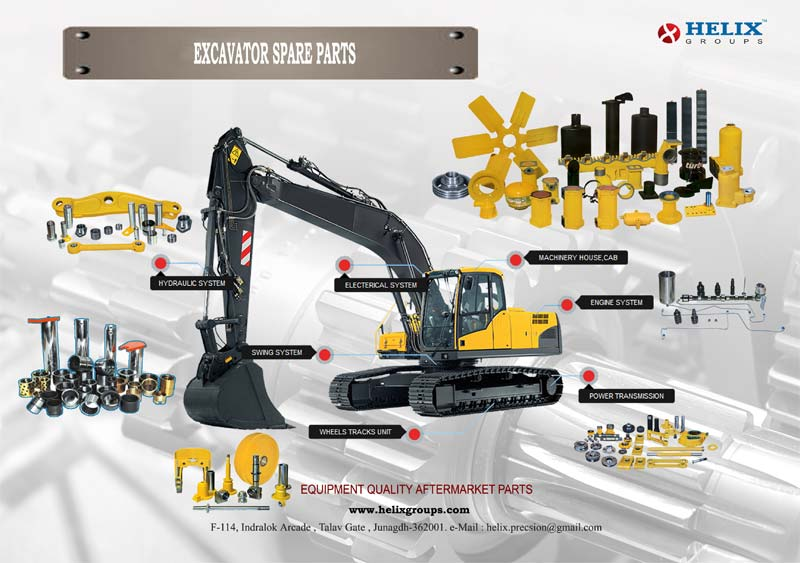 Buy Excavator Spare Parts from HELIX PRECISION, India | ID - 1363362