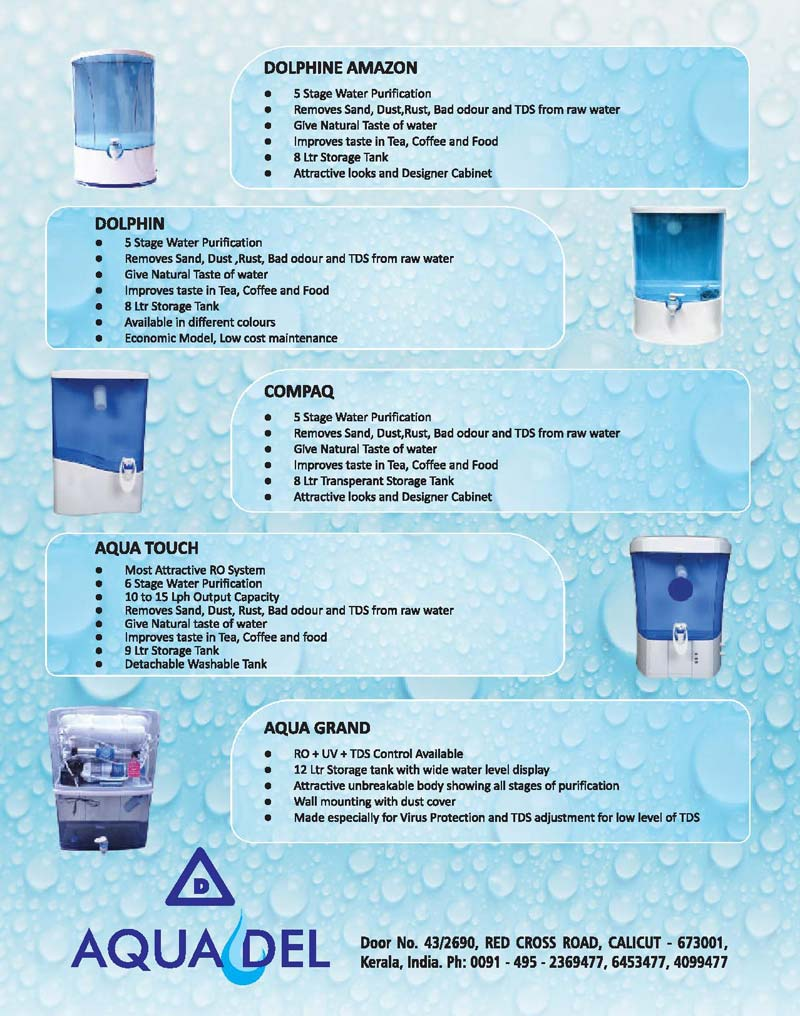 ro uv water purifier Manufacturer & Exporters from, India