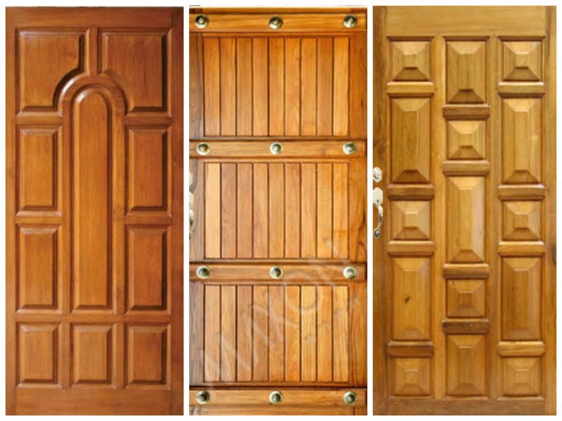 Buy maxon burma teak wood wooden doors from fortune teak for Door design new model 2017