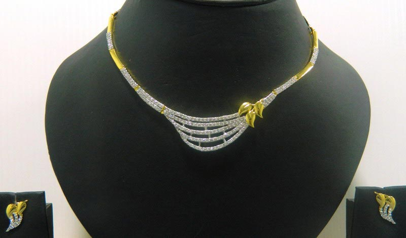 American Diamond Necklace Set Manufacturer In Kolkata West Bengal India Id 554872