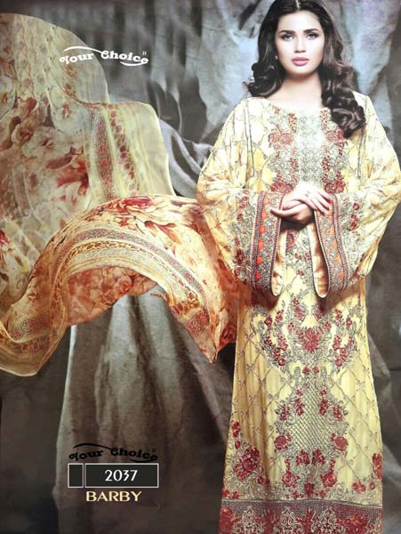 Foux Georgette With Embroidery Suit