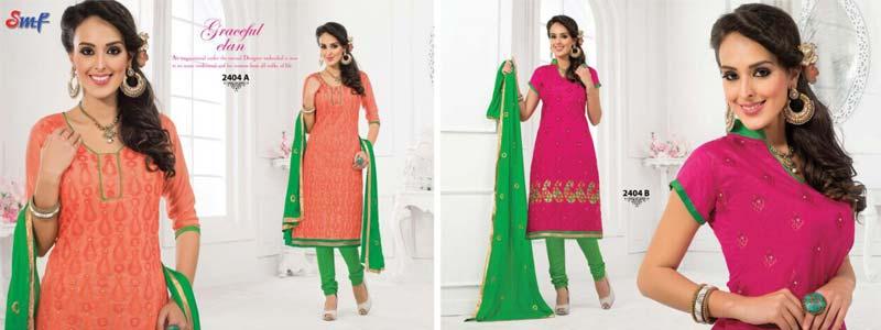 Sunday Monday Vol  2 â   Designer Chanderi Salwar Suits