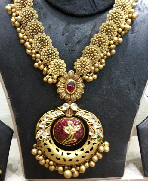 Antique Gold Necklace Manufacturer In Rajkot Gujarat India