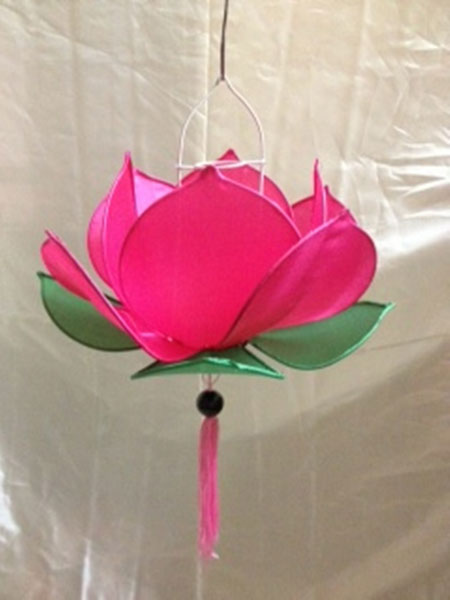 Silk Lotus Lamp Pink Colour Manufacturer Exporters From Viet Nam