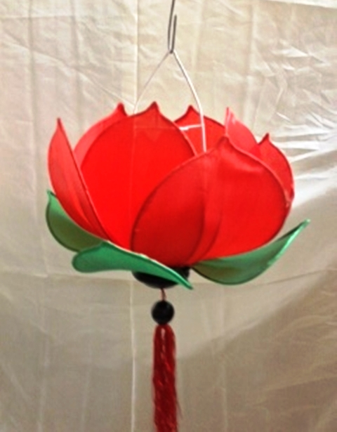 Silk Lotus Lamp Red Colour Manufacturer Exporters From Viet Nam