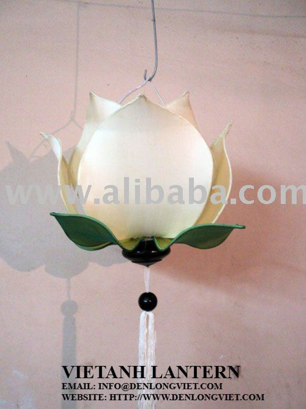 Silk Lotus Lamp White Colour Manufacturer Exporters From Viet Nam
