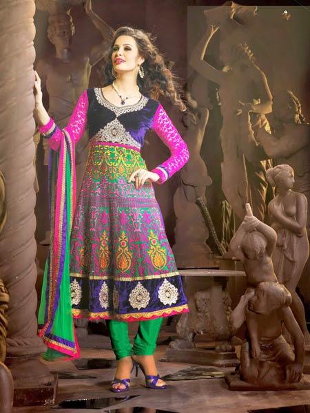 Designer Churidar Suits Manufacturer & Manufacturer From