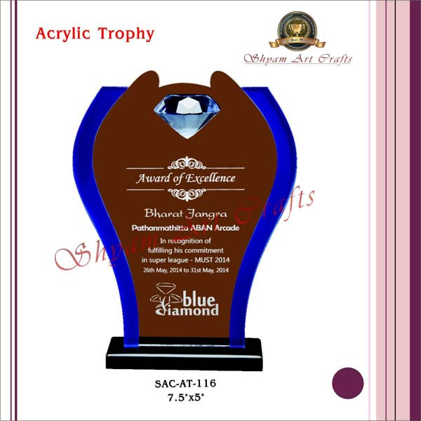 We Are One Of The Leading Manufacturers Exporters And Suppliers Acrylic Trophy From Delhi India Understand Importance A To