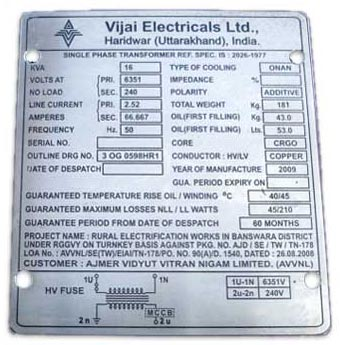 Industrial Nameplate Manufacturer In Uttarakhand India By