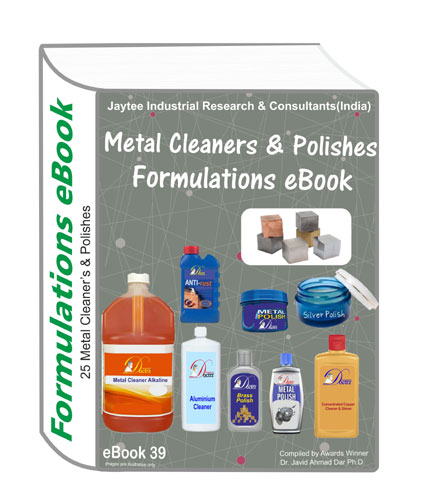 Metal Cleaners Formulations Ebook39 With 25 Formulations