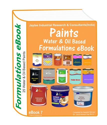 Oil and water based paint formulations eBook(25 formulations