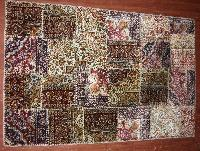 handmade single knotted art silk carpets