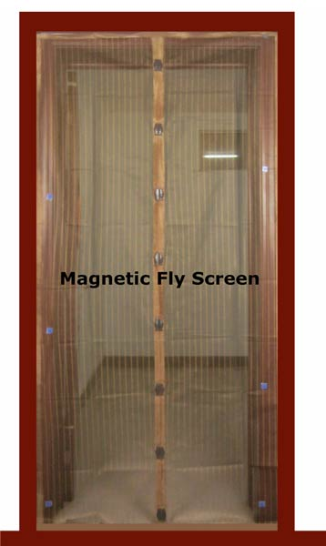 Hands Free Screen, Magic Mesh Magnetic Fly Screen