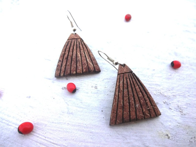 8cd0ad40376 Buy Coconut Shell Earrings from Mesha Paradise