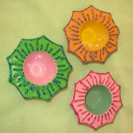 Sunflower Earthen Lamps