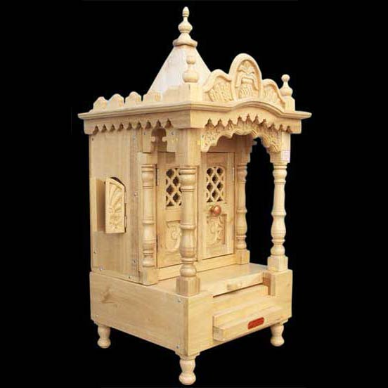 Wooden Home Temple Manufacturer In Jodhpur Rajasthan India By Handiana Id 755228