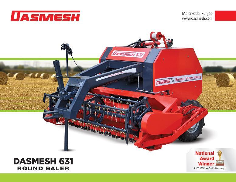 Dasmesh(631) Round Straw Baler