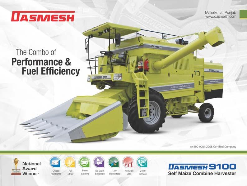 Dasmesh (9100) Maize Combine Harvester