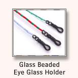 Glass Beaded Eye Glass Holder