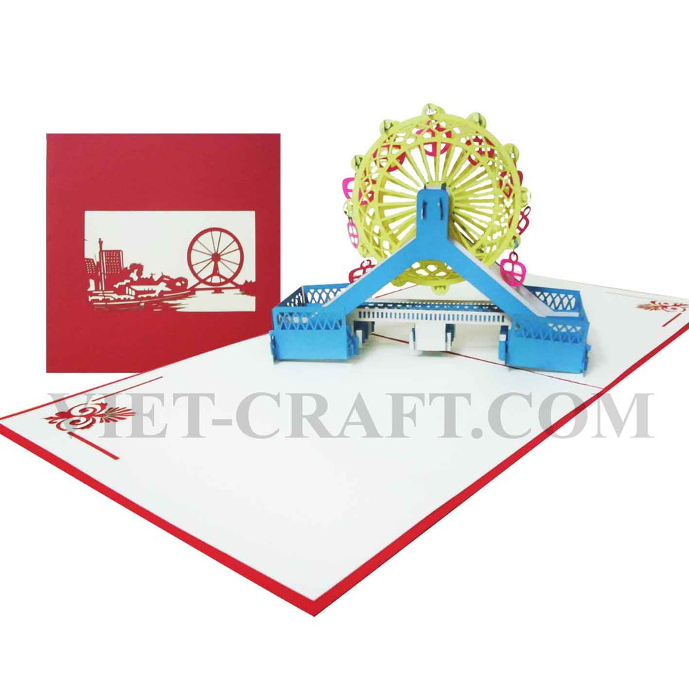 Buy Big Giant Wheel 3d Pop Up Greeting Card From Vietcraft Jsc Viet