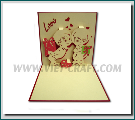 Buy love pop up 3d handmade greeting card from vietcraft jsc viet love pop up 3d handmade greeting card pop up 3d card m4hsunfo