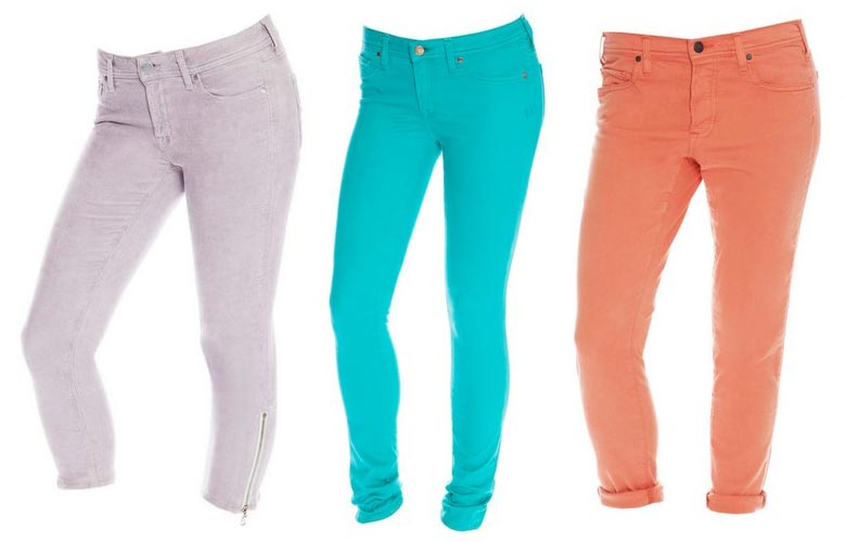 Buy Ladies Colored Jeans from pfive, Lucknow, India | ID - 922046