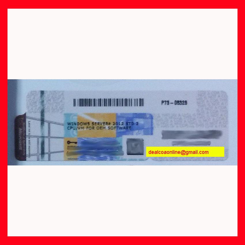 Windows Server 2012 Coa Label Oem Key Coa Sticker Coa