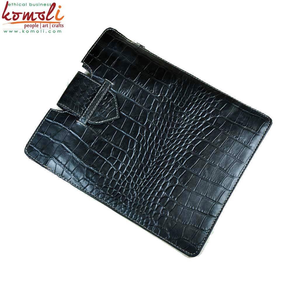 Black Leather Ipad Cover (Komoli-34002-BL)