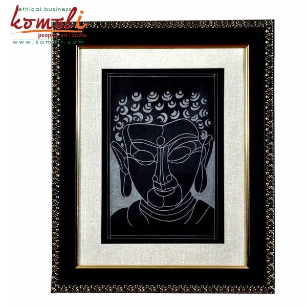Buddha Face Wall Hanging (Komoli-16004-BL)